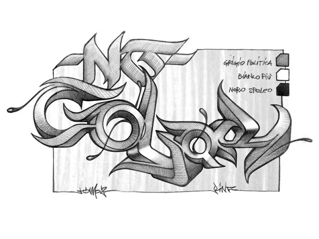 No color sketch